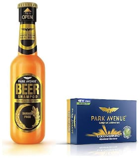 Park Avenue Damage Free Beer Shampoo 180Ml & Good Morning Soap 125Gm ( Pack Of 2)