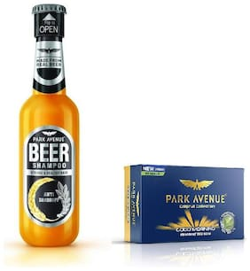 Park Avenue Anti Dandruff Beer Shampoo 180Ml & Good Morning Soap 125Gm ( Pack Of 2)