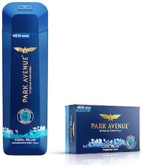 Park Avenue Cool Blue (Talc 200 gm & Soap 125 gm) - Pack 2