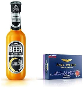 Park Avenue Anti Dandruff Beer Shampoo 180Ml & Storm Soap 125Gm ( Pack Of 2)