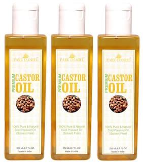 Park Daniel Premium Cold Pressed Hexane Free Castor Oil Combo Set Of 3 No.200 ml Bottles (600 ml )