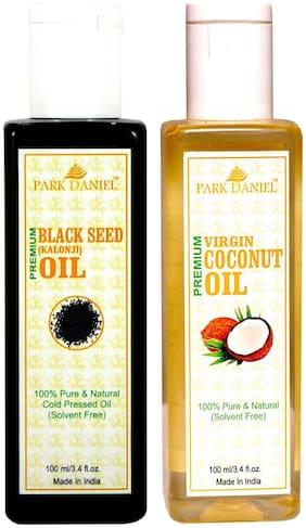 Park Daniel Coconut Oil And Black Seed Oil(Kalonji) Combo Pack Of 2 Bottles Of 100 ml (200 ml )