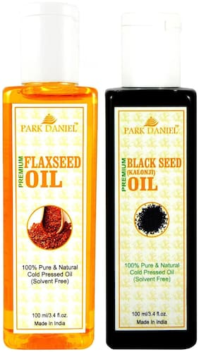 Park Daniel Premium Flaxseed Oil And Blackseed Oil Combo Of 2 Bottles Of 100 ml (200 ml )