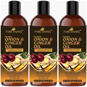 Park Daniel Premium Onion & Ginger oil 100ml (Pack of 3)