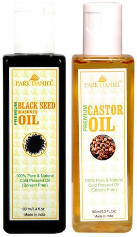 Park Daniel Castor Oil And Black Seed Oil(Kalonji) Combo Pack Of 2 Bottles Of 100 ml (200 ml )