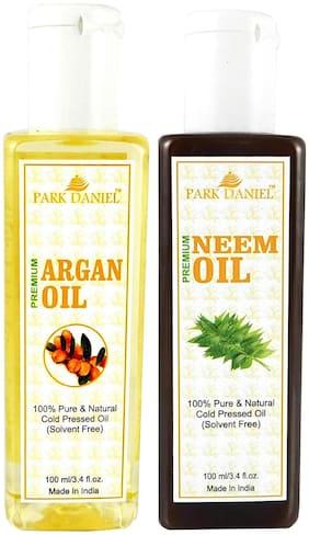 Park Daniel Premium Argan Oil And Neem Oil Combo Of 2 Bottles Of 100 ml (200 ml )