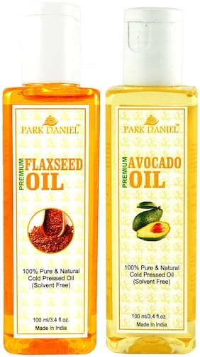 Park Daniel Premium Flaxseed Oil And Avocado Oil Combo Of 2 Bottles Of 100 ml (200 ml )