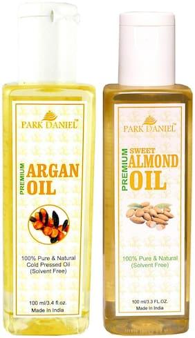 Park Daniel Premium Argan Oil And Almond Oil Combo Of 2 Bottles Of 100 ml (200 ml )