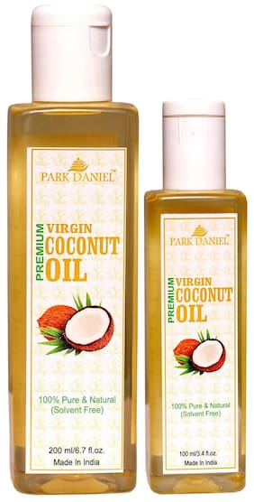 Park Daniel Virgin Coconut Oil - Pure And Natural Combo Pack Of 2(200 ml And 100 ml ) Bottles (300 ml )