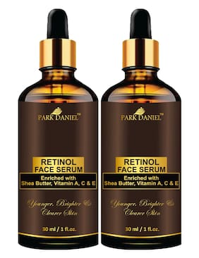 Park Daniel Premium Retinol Face Serum Enriched With Shea Butter,Vitamin A,C & E -For Younger,Brighter And Clearer Skin Combo Bottles 30 ml (Pack of 2)