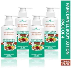 Park Daniel Skin Whitening & Brightening Body Lotion 200 ml Pack Of 4