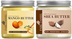 Park Daniel 100% Natural Mango Butter & Shea Butter Raw,Unrefined & African- For Moisturization Of Body And Skin Combo 50g Each (Pack Of 2)