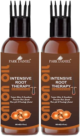Park Daniel Intensive Root Therapy Onion Oil With Comb Applicator For Fast Hair Growth & To Reduce Hair Fall 100ml(Pack of 2)