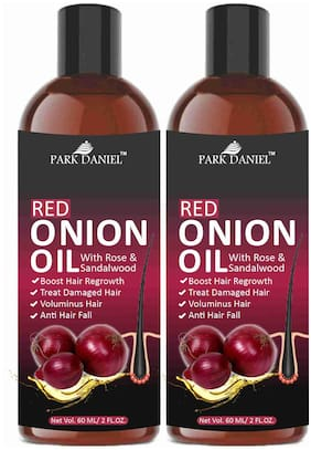 Park Daniel Red Onion Hair Oil For Anti Hair Fall & Fast Hair Regrowth 60ml(Pack of 2)
