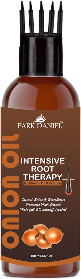 Park Daniel Intensive Root Therapy Onion Oil With Comb Applicator For Fast Hair Growth & To Reduce Hair Fall(100 ml)