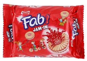 Parle Sandwich Biscuits Fab - Jam in Fruit Flavour 150 gm