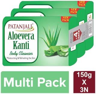 Patanjali Aloevera Kanti Body Cleanser-(3x1)150 g
