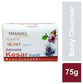 Patanjali Almond Kesar kanti Body Cleanser Soap 75g(Buy 3& get 3 Free)