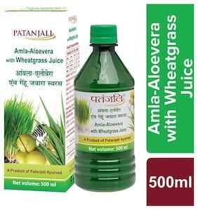 Patanjali Amla Aloevera Juice With Wheat Grass 500 ml