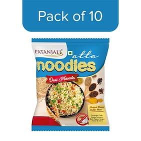 Patanjali Atta Noodles Desi Masala 60 g (Pack of 10)