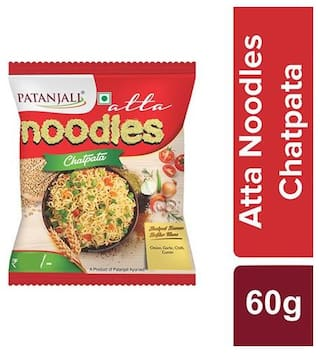 Patanjali Atta Noodles Chatpata 60g (Pack of 10)