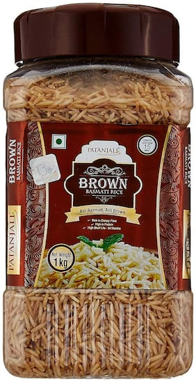 Patanjali Brown Basmati Rice Jar 1 kg