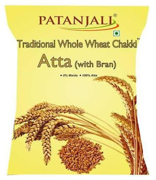 Patanjali Chakki Atta - Whole Wheat  Traditional  With Bran 10 kg