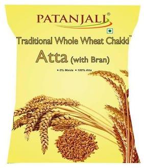 Patanjali Chakki Atta - Whole Wheat, Traditional, With Bran 1 kg
