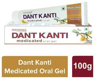 Patanjali Dant Kanti Medicated Oral Gel 100 g (Pack of 2)