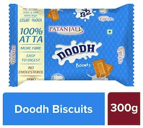 Patanjali Doodh Biscuits 300 G ( Pack of 2 )