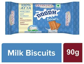 Patanjali Doodh Biscuits 90 G ( Pack of 10)