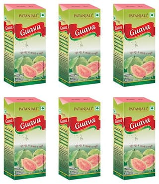 Patanjali Guava juice 200 ml Each (Pack of 6)