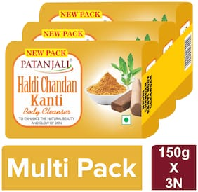 Patanjali Haldi Chandan Body Cleanser 150 g(Pack of 3)