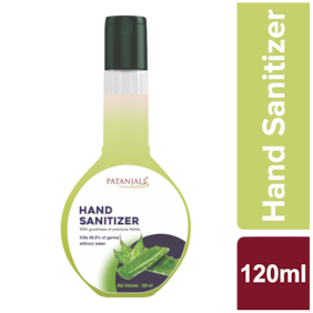 Patanjali Hand Sanitizer 120 ml ( Pack of 1 )