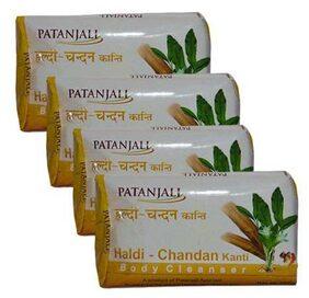 Patanjali Haldi Chandan Kanti Body Cleanser 150 gm(*Pack of 4)