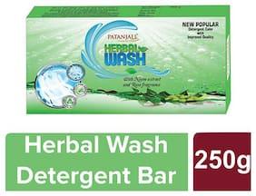 Patanjali Herbal Wash Detergent Bar 250 g (Pack of 8)
