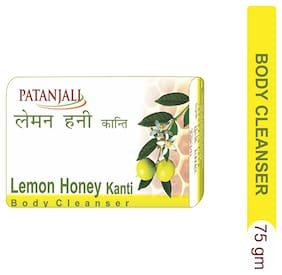 Patanjali Lemon Honey Kanti Body Cleanser 75 gm(*Pack of 4)