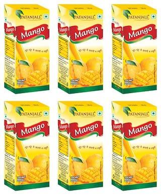 Patanjali Mango juice 200 ml Each (Pack of 6)