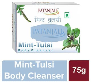 Patanjali Mint Tulsi Body Cleanser 75 g ( Pack of 4)