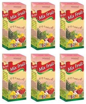 Patanjali mix fruit juice 200 ml Each (Pack of 6)