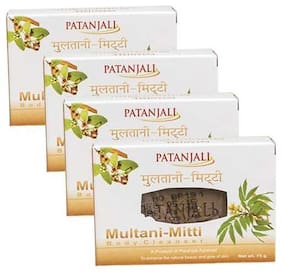 Patanjali Multani Mitti Body Cleanser 75 g(*Pack of 4)