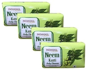 Patanjali Neem Kanti Body Cleanser 75 gm(Pack of 4)