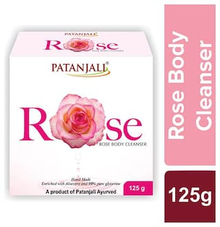 Patanjali Rose Body Cleanser 125 g (Pack of 4)
