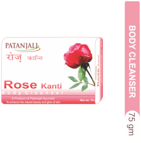 Patanjali Rose Kanti Body Cleanser 75 gm(*Pack of 4)