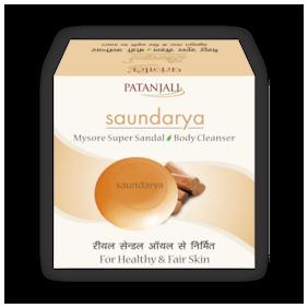 Patanjali Saundarya Mysore Super Sandal Body Cleanser 75 g ( pack of 2 )