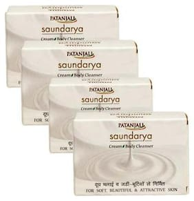 Patanjali Saundarya Cream Body Cleanser 75 gm(*Pack of 4)