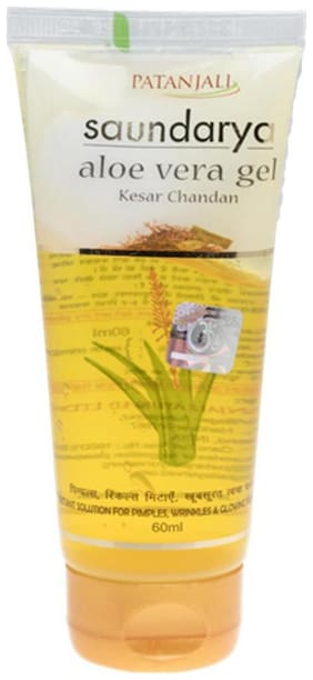 Patanjali Saundarya Aloe Vera Gel Kesar Chandan 60 ml
