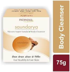 Patanjali Saundarya Mysore Super Sandal Body Cleanser 75g (Pack of 2)