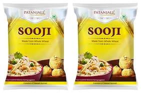 Patanjali sooji 500 g ( Pack of 2 )