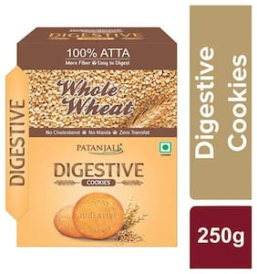 Patanjali Whole Wheat Digestive Cookies Biscuits 250 G (pack of 2)